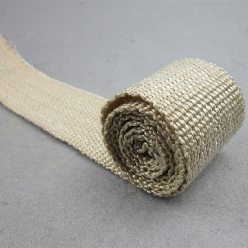 HIGH HEAT RESISTANT HEAT CLEANED EXHAUST WRAP